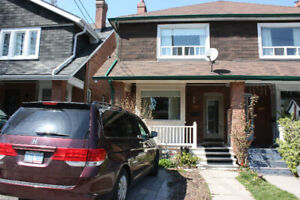 A bright two-story house in one of Toronto's best areas for fami