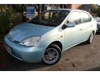 2001 Toyota Prius 1.5 VVT-I HYBRID Turquoise 4 Door Long MOT Auto Low Road Tax