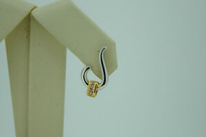 Beautiful 18k Two-Tone Gold Earrings