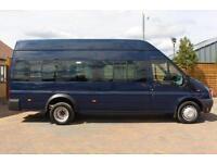 2012 FORD TRANSIT 430 TDCI 135 LWB HIGH ROOF 17 SEATS BUS MINIBUS DIESEL