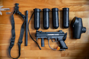 Tippman A-5 with Cyclone and Pro-Carb F-4 Barrell