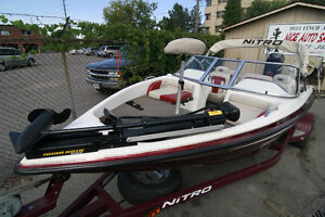 beautiful 150HP BASS BOAT with trolling,2 fish finder ready