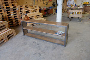 Industrial Media Console/Credenza Steel and Wood London Ontario image 5