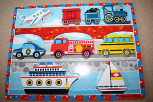 Melissa and Doug Wooden Vehicles Puzzle