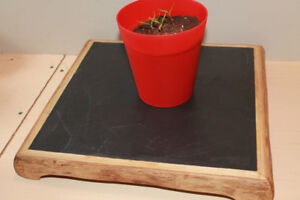 Solid slate tray Stand