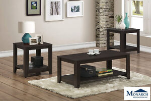 Brand NEW Cappuccino 3PC Table Set! Call 506-854-6686!