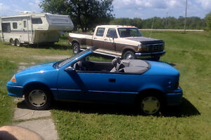Selling my 1992 Geo Metro LSIBlue Convertible  $1200.00