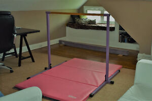 Nimble Home Gymnastics Bar, Beam and Mat for sale