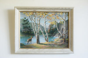 """Autumn Landscape Large Wall Decor With Frame 28.5"""" x 22.5"""""""