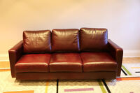 Ridpaths' Italian Leather Couch