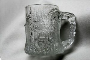 Flintstone Glass Mug Cup 1993 McDonald's Made in France