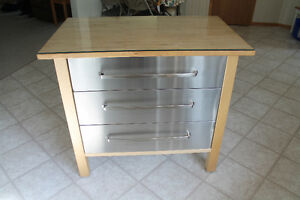 IKEA Kitchen Island with 3 Drawers