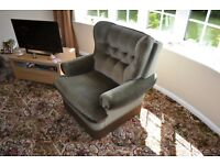 Free - Dark Green Velour Chair