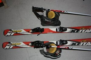 Skis, boots and poles