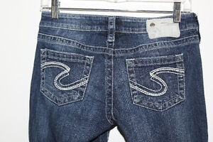 SILVER AIKO BOOTCUT JEANS SIZE 25 Mint!!!