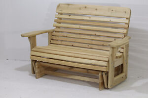 Amish made white cedar gliding rocker glider bench FREE SHIPPING