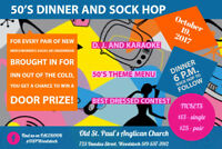50's DINNER AND SOCK HOP - Tickets available NOW
