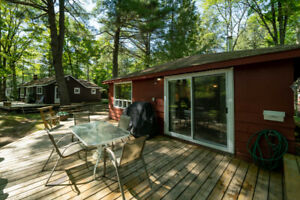 2 COTTAGES (ONE PRICE) ON PRIVATE WATERFRONT LOT IN SEBRIGHT