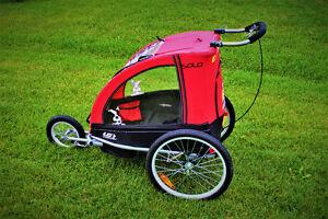 Remorque vélo pour enfant et poussette jogging Louis Garneau