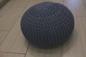 Blue beanbag chair from West Elm