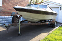 19' Boat with Trailer for Sale (Caribbean Motorboat)