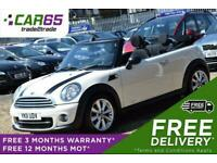 2011 MINI Convertible 1.6 COOPER D 2d 112 BHP + FREE DELIVERY + FREE 3 MONTHS WA
