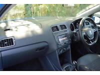 2015 Volkswagen Polo SE 1.0 60PS 5-speed Manual 5 Door Petrol blue Manual