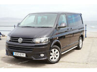 2013 VW TRANSPORTER T5 KOMBI 2.0TDi SWB T30 BLUEMOTION 48MPG BLACK T5.1