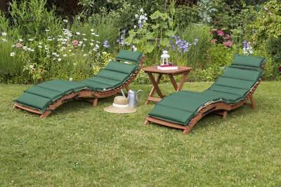 Merxx Gartenliege Ipanema Set 5-teilig, inkl. Wendekissen grün/beige mit Hocker
