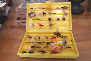 Vintage Box Lot of Fishing Flies/Lures