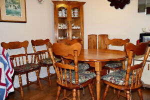 Dining Room Set and Dish Cabinet