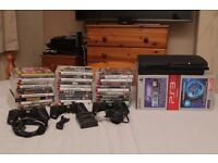 320gb PS3 bundle, 33 games, 3 pads + extras