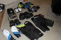 Ice Hockey Equipment (Bag, Gloves, Pads, Socks, etc.)