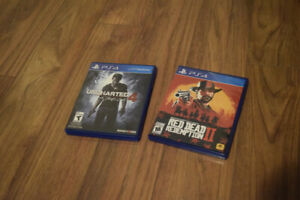 PS4 Games, Red Dead Redemption 2, Uncharted 4