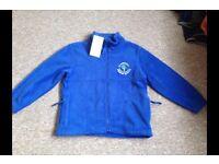 St Andrews Primary School uniform jumper and fleece age 5-6