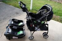 Snap N Go Car Seat Carrier, Safety 1st car seat and extra base