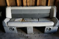 Bench seat for a boat or pontoon + new vinyl for reapolstering