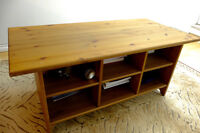 Solid Oak Coffee Table with Storage Space