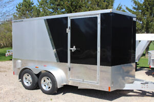 Used 7 X 13 Bremar All Aluminum Motorcycle Trailer