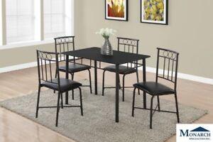 5PC Black Dinette Set