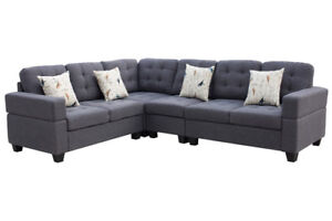 4 PCS DOUBLESIDE_SECTIONAL SOFA_FACTORY OUTLET