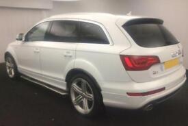 2013 WHITE AUDI Q7 3.0 TDI 245 QUATTRO S LINE + DIESEL AUTO CAR FINANCE FR 88 PW