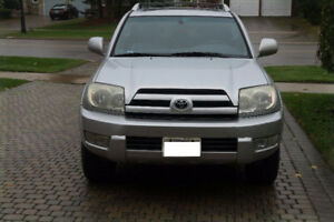 EXCELLENT 4.0L V6 4RUNNER LIMITED ONE OWNER, FRAME/BODY IS MINT