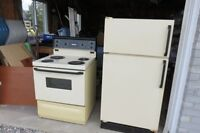GE Refrigerator and Stove for sale $50 each