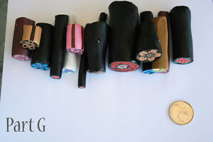 14 original unbaked polymer clay canes made by artist Kitchener / Waterloo Kitchener Area image 2