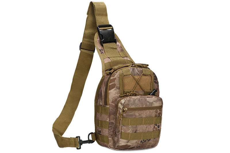 Outdoor Shoulder Military Tactical Backpack Travel Camping  Hiking Trekking Bag Yellow pythons grain