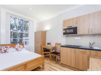 -Spacious studio flat in Bayswater, Craven Hill Gardens, rent includes all bills
