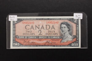 Canada 1954 $2 Devil's Face Bank Note