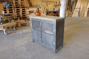 Industrial Media Console/Credenza Steel and Wood London Ontario image 8