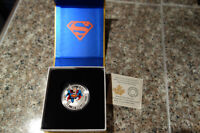 Sold Out RCM $15 Silver Superman Comic Book Cover Coin